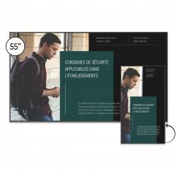 Ecran d'affichage Android SpeechiDisplay UHD 55''