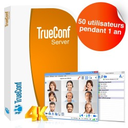 Logiciel de visioconférence TrueConf Server - 50 utilisateurs - 1 an
